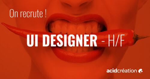 Recrutement : UI DESIGNER h/f
